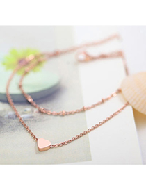 Double Rose Gold Heart Shape Decorated Simple Design