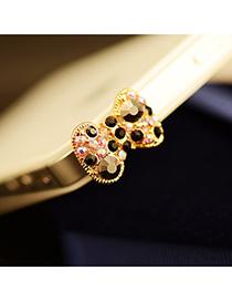 pretty Black Diamond Decorated Bowknot Shape Design