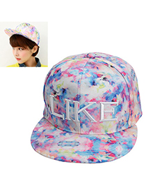 latest style Purple Letter & Printing Pattern Simple Design Canvas Baseball Caps