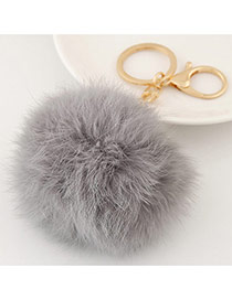 Fashion Gray Fur Ball Pendant Decorated Simple Design