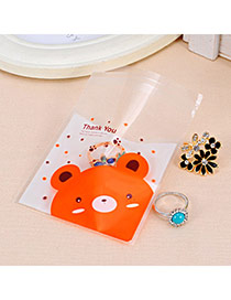 Sweet White Baby Bear Pattern Simple Design Polypropylene Jewelry Tools