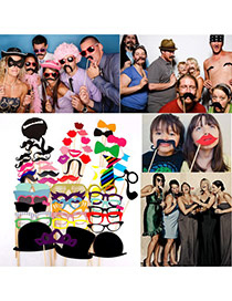 Funny Multicolor Various Shape Simple Design Photo Props (58pcs)