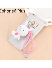 Sweet Pink Cartoon Rabbit Decorated Dots Descendants Of The Sun Resin Iphone 6 Plus