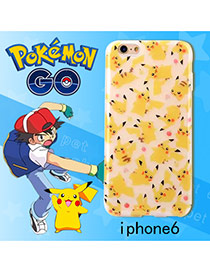 Cute Yellow Monster Shape Pattern Decorated Ipone6s Cases