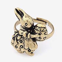 Anillo Abierto De Moda Belleza Decorado Con Conejo